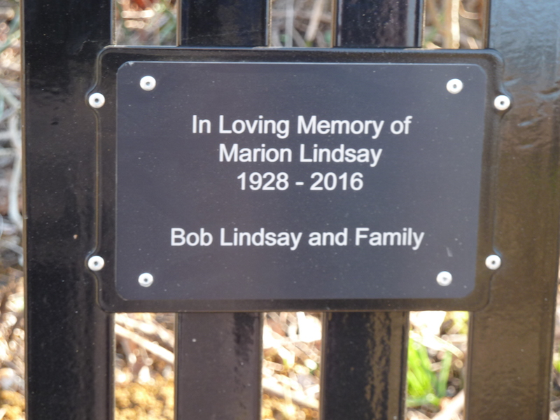 New Memorial Bench in Honour of Marion Lindsay