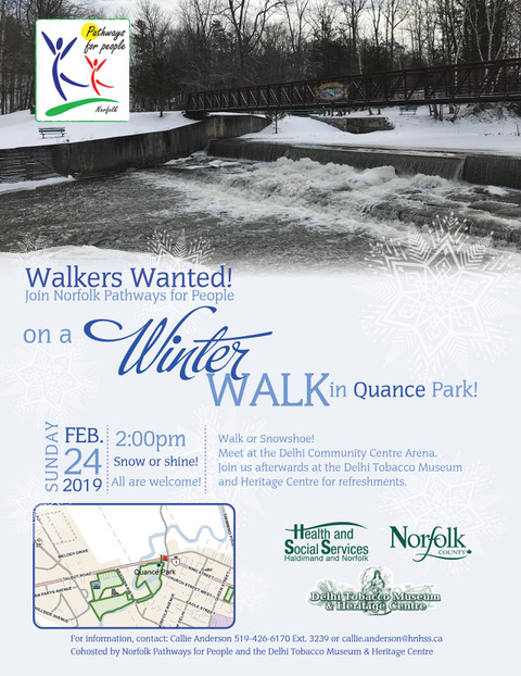 Walkers Wanter: Winter Walk in Quance Park