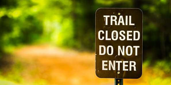 Partial Trail Closure: Nov 11-15, 2019